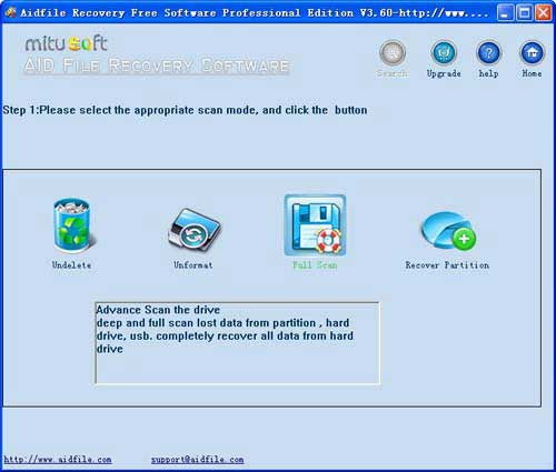 Aidfile free data recovery software 3.674